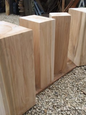 Cedar of lebanon plinths cut to size
