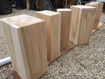 Cedar of lebanon plinths cut to size from £80+vat